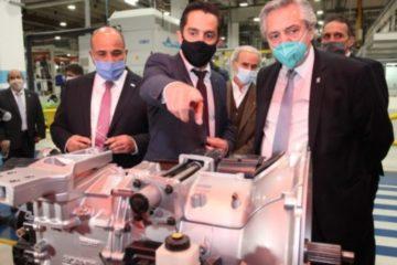 El presidente visitó la planta de Scania