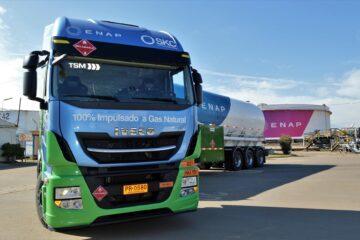 El primer camión GNL de IVECO llega a Chile
