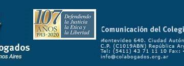 Comunicación del Colegio de Abogados 17.11.2020