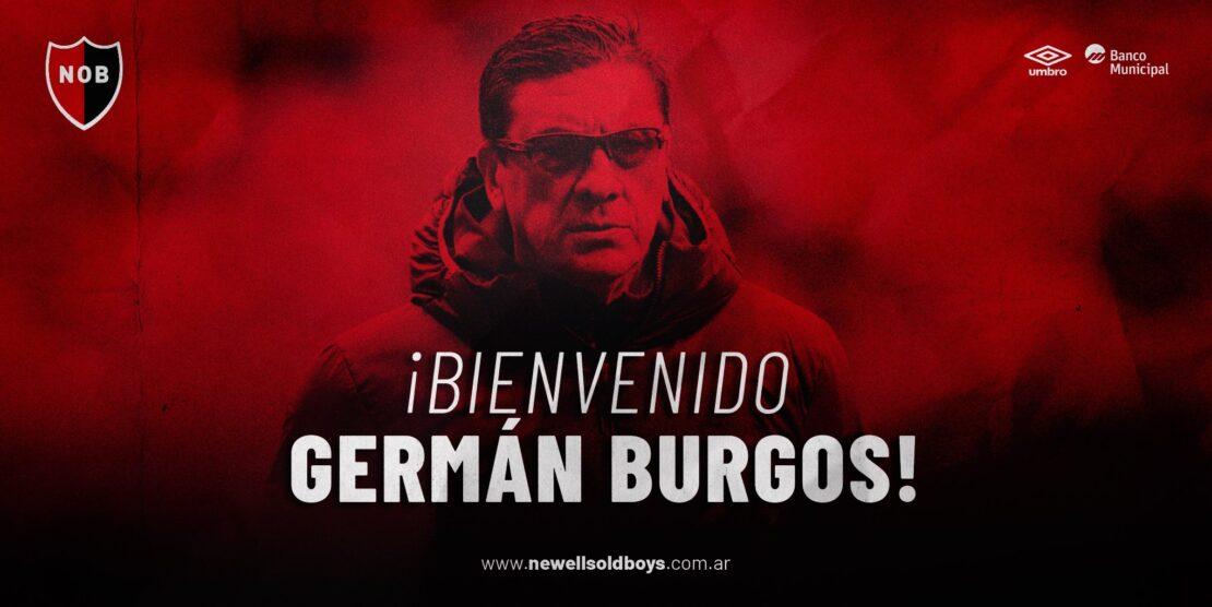 """Germán """"El Mono"""" Burgos es el nuevo DT de Newell´s"""