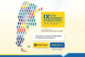 ¡INSCRIBITE YA! IX Congreso Internacional de Abogacía Pública, Local Y Federal de la Procuración General de CABA